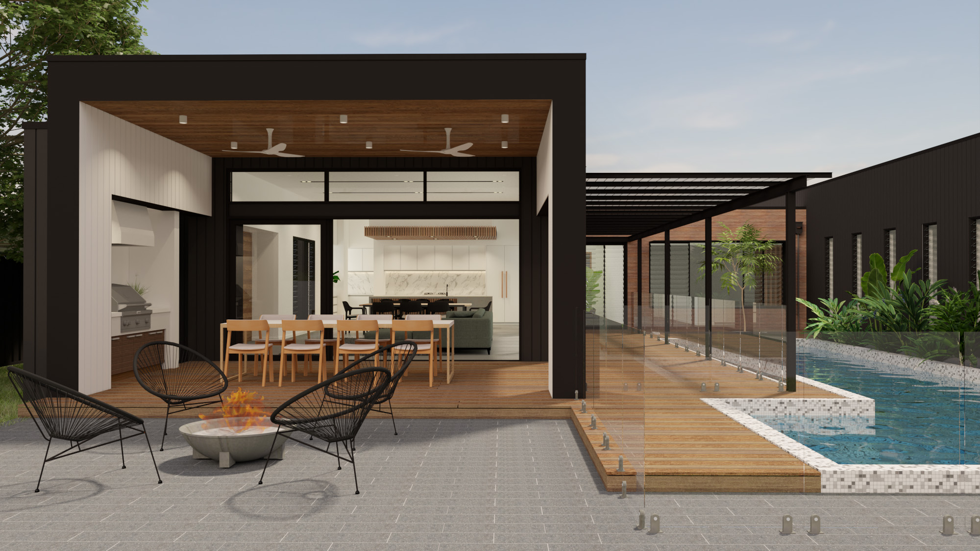 Courtyard House with central pool
